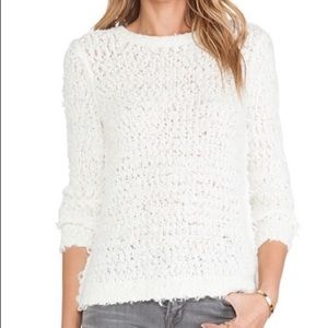 FREE PEOPLE WHITE SUMMER SONG PULLOVER SWEATER!